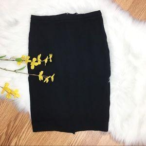 Body By Victoria Black Stretch Pencil Skirt Sz 2